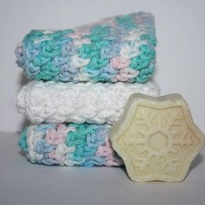 Beautiful cotton wash clothes with free gift